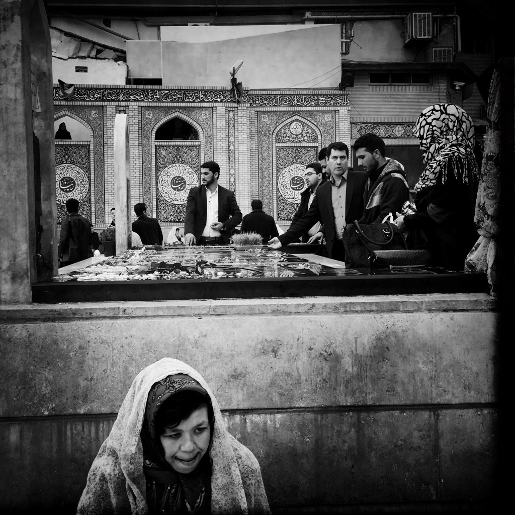 Devotees at the Shrine of Imamzadeh Saleh in north Tehran