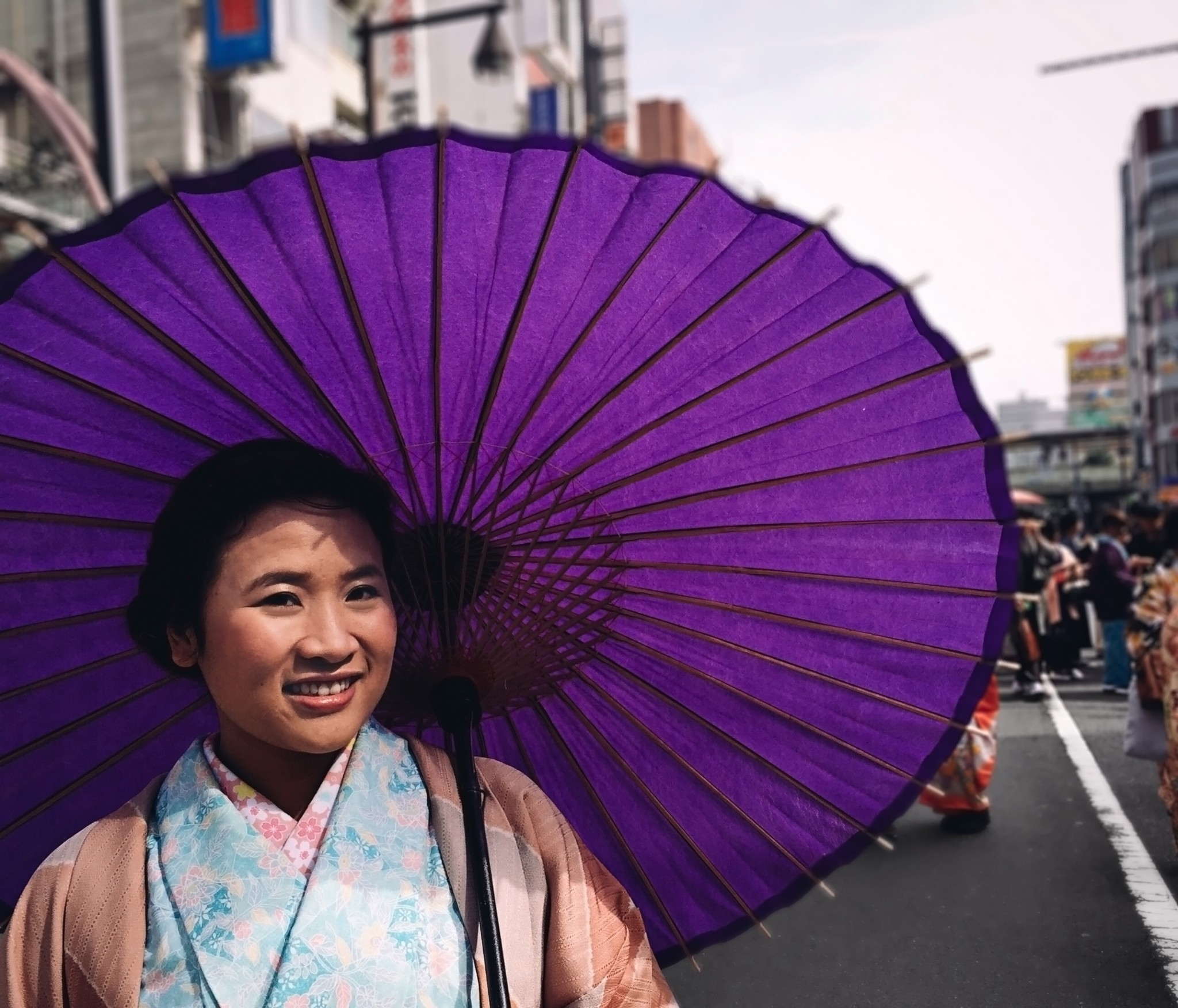 Lady with a Purple Parasol