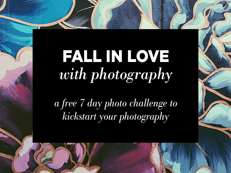 Fall in Love with Photography: Join the 7 day photo challenge