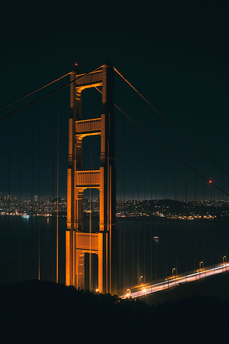 San Francisco's Golden Gate Bridge from the Marin Headlands by Monica Galvan