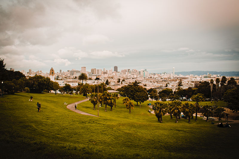 Mission Dolores Park in San Francisco, California