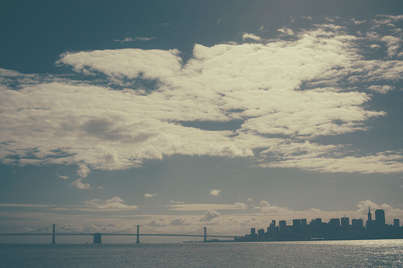 San Francisco skyline from the Larkspur Ferry by Monica Galvan