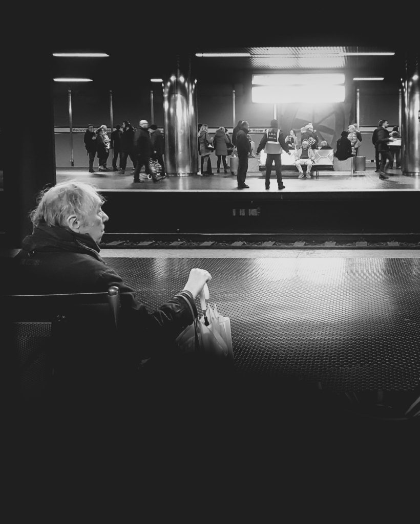 lone man in the subway station by @tonivisual